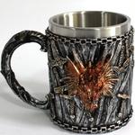 Caneca Chopp Inox Game Of Thrones TargaRyen 400ml Presente