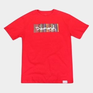 Camiseta Diamond Plus Size Color Ply Box Logo Masculina - Masculino-Vermelho