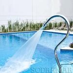 Cascata em inox para Piscina - Tubular Splash Sodramar