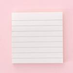 Artigos de papelaria horizontais em branco grade bloco de notas simples almofadas de recados adesivo pegajoso post material escolar