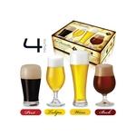 Conjunto de Copos Cerveja e Chopp (4 unidades) Beer Sommelier Ruvolo - RUV 015