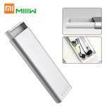 Xiaomi miiiw caixa de lápis de liga de alumínio de metal artigos de papelaria Box Pencilcase Earphones Cable Organizer Pen Caso Com Imprensa Pop-up interruptor para a Apple Lápis 2 Escritório Escola de prata