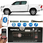 Aparelho Som Mp3 Bluetooth Pendrive Usb Radio - Hilux