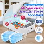 Esterilizador portátil de luz uv para celular com função de aromaterapia Caixa de esterilização para carregamento de desinfecção por USB para máscaras Pequenos acessórios Assista Wongkuba