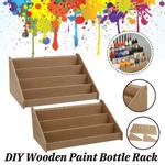 Rack de pintura em cores de madeira faça você mesmo com 3/4 camadas, organizador modular, garrafa de armazenamento, material escolar, artigos de papelaria de madeira