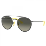 Óculos de Sol Ray-Ban Rb3647m F030/71 51 Round Double Bridge Ferrari