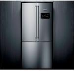 Refrigerador Side Inverse Brast 03 Portas Frost Free 540 Litros Painel Eletrônico Inox BRO81AR 127V