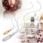 Pingente de colar difusor, pingente de joias elegantes, perfume de metal prático portátil para mulheres e homens óleo essencial