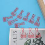 Mini clipe de papel, belo prático e prático clipe portátil leve, clipes de marcadores para clipes de papelaria para clipes de papel Classificação de a