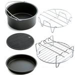 Início Air Frigideira Acessórios cinco pe? As Fryer Baking Basket Pizza Placa Grill Pot Mat Multi-funcional acessório de cozinha