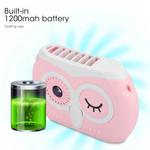 Ventilador de pescoço pendurado, ventilador portátil USB pessoal portátil ajustável, pequenos comprimidos de aromaterapia operados por bateria podem s