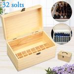 Caixa de armazenamento de óleo essencial para 32 garrafas, estojo, recipiente e organizador de aromaterapia