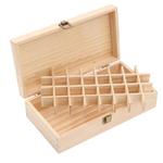 Podem ser coletados 32 compartimentos de óleo essencial em uma caixa de madeira