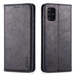Capa para celular Samsung A51 de luxo capa de couro Preto