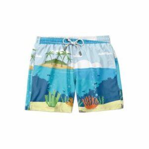 Short Maravs Moda Praia Island Masculino - Masculino-Azul