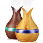 Kbaybo difusor de aroma elétrico, usb, 300ml, ultrassônico, umidificador de ar, purificador de óleo essencial, aromaterapia para Casa