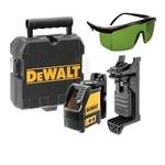 Laser De Linha Verde Dewalt Automatico Dw088Cg-La + Óculos