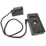 NP-F970 Bateria Mount Holder Placa Com DMW-DCC12 manequim de bateria para Panasonic tr