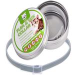 Óleo essencial natural de desodorante de coleira de gato para pulgas de cachorro de estimação 8 meses de proteção