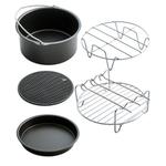 Air Frigideira Acessrios 5Pcs Acessrios de cozinha Fryer Baking Panelas Baking Basket Pizza Pan Grill Pot cremalheira ferramentas