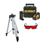 Nível Laser Vermelho Dewalt C Tripe Óculos Adaptador Dw088