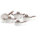 Jogo de Panelas Antiaderente Cerâmico Brinox Ceramic Life Granada com Fundo de Indução 5 peças