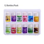 12 Garrafas / Pacote de 3 ml Natural Óleo Essencial Para Aromatherapy Umidificador purificador