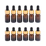 12x Vazio Conta-gotas Garrafas Recarregáveis óleo Essencial Cosméticos Frasco Cannings