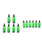 12 Partes Vazias óleos Essenciais Conta-gotas Garrafas Líquido Aromaterapia 50 Ml Verde