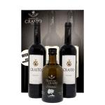 Kit 2 Vinhos Crasto Douro 750ml c/ Azeite EV Quinta do Crasto 500ml