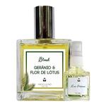 Perfume Gerânio & Flor de Lótus 100ml Masculino - Blend de Óleo Essencial Natural + Perfume de presente