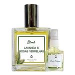 Perfume Lavanda & Rosas Vermelhas 100ml Masculino - Blend de Óleo Essencial Natural + Perfume de presente