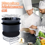Air Fryer Accessories 5 Piece Cake Basket Set Electric Fryer For Pizza Baking