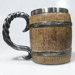 Caneca Barril Medieval Em Resina | Inox 400ml - Chopp, Vinho