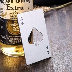 Abridor De Garrafa Poker Card Silver