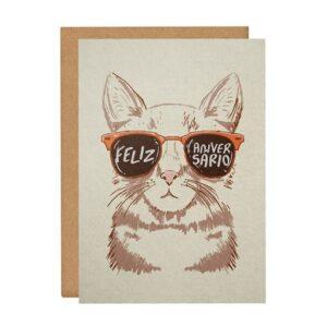 Cartão Comemorativo - Cat Style