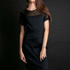 Vestido Calvin Klein Wl Transparencia Ref:cf9Pw30Vm883