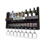 Barzinho Para Sala Aparador De Parede Adega Vinhos Bebidas Madeira MDF 100x45cm Tabaco Fosco