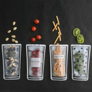 Kit 4 Porta Alimentos De Silicone Simple