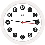 Relogio de Parede Redondo Branco 21.7 cm. - 01 Unidade Bell´s Branca