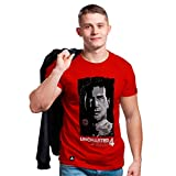 Camiseta Drake Face, Banana Geek, Adulto Unissex, Vermelho, XG