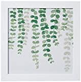 Arte Maníacos Quadro Decorativo Samambaia Folhas - 46x32,5cm (Moldura em laca branca)