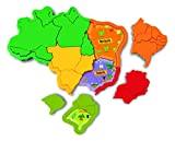 Mapa do Brasil 3D Plástico, Elka, Multicor