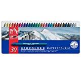 Caran D'Ache Giz Aquarelável, Neocolor II Watersoluble, 30 Cores, Pacote de 1