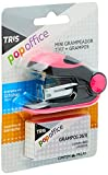 Grampeador Mini T317-26/6-12 Fls - C/Grampos - Cart C/2 Un - Tris Pop Office