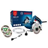 Serra Mármore a úmido Bosch GDC 151 TITAN 1500W 127V, com Kit de refrigeração e 2 Discos
