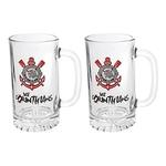 KIT de 2 Canecas Estriada 473 Ml Chopp Maxim Cerveja Corinthians