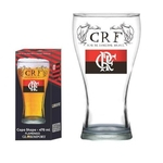 KIT de 4 Copos De Vidro Cerveja 470 Ml Chopp Shape Flamengo CRF