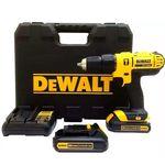 """Parafusadeira Furadeira de impacto 1/2"""" à bateria 20 volts com 2 baterias - DCD776C2 - Dewalt"""