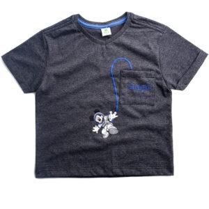Camiseta Botone Com Bolso - Mickey Mouse - Algodão e Poliéster - Preto - Disney